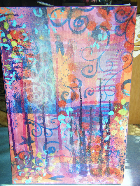 Angella Dee Designs: Intuitive Painting...Part One