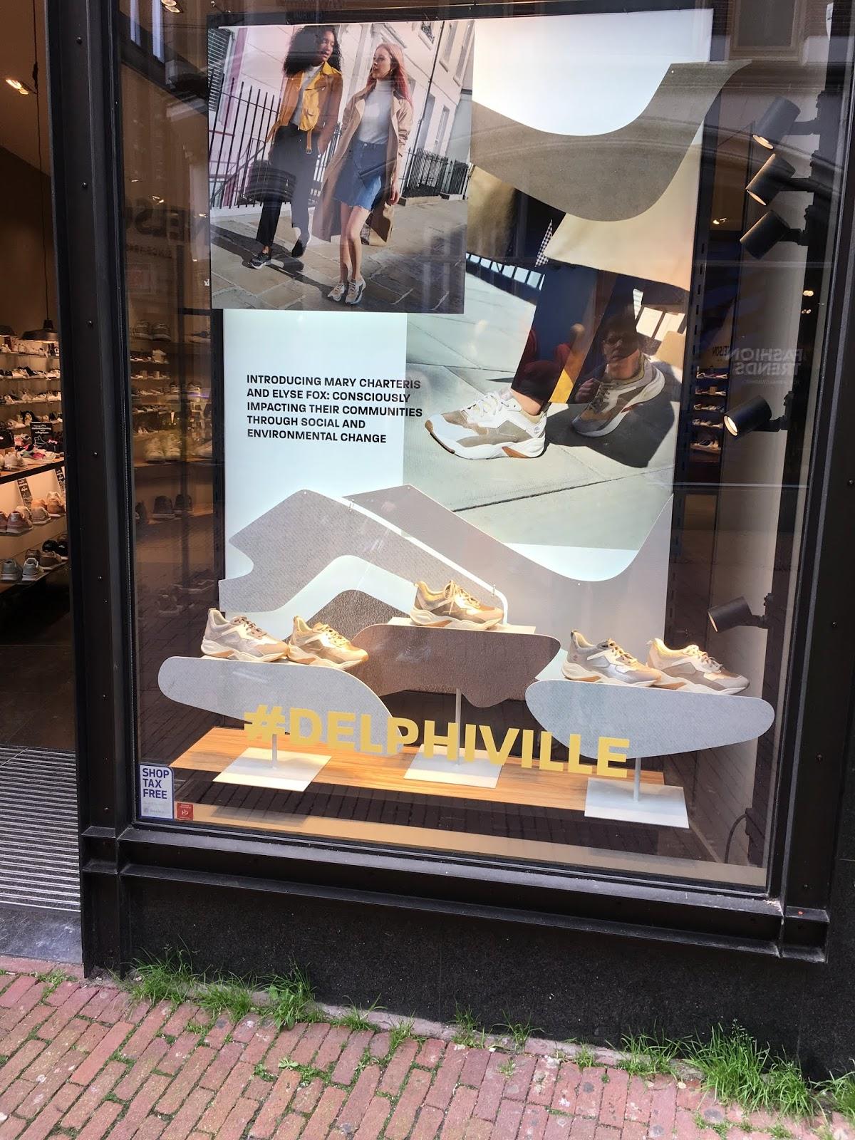 POP professor: Timberland Delphiville shop window