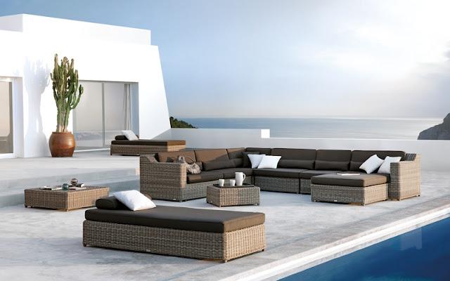 Diseño de interiores y muebles de jardín de lujo