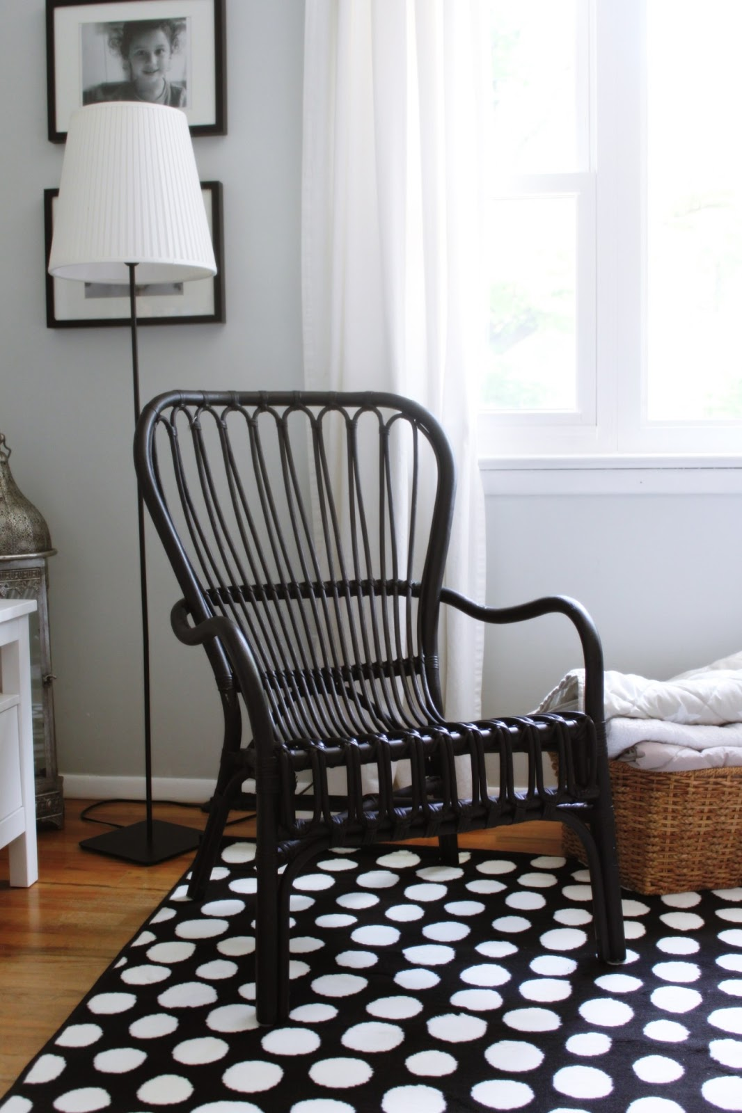 Rattan Chair Ikea Overstuffed And Ottoman Set House Of Danish Marie New