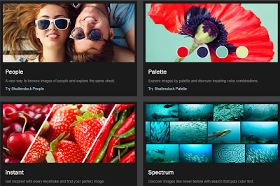 Shutterstock labs: People, Palette, Instant, Spectrum