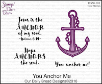 ODBD You Anchor Me Stamp/Die Duos