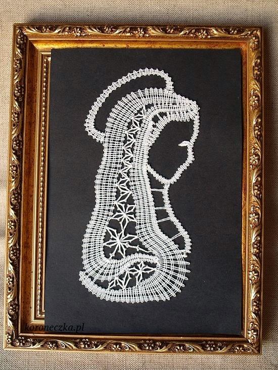 Madonna  Koronka klockowa  - bobbins lace
