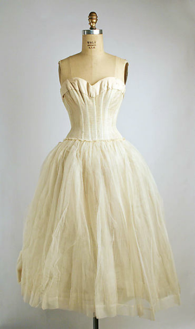 House of Dior White Underdress Slip displayed on mannequin
