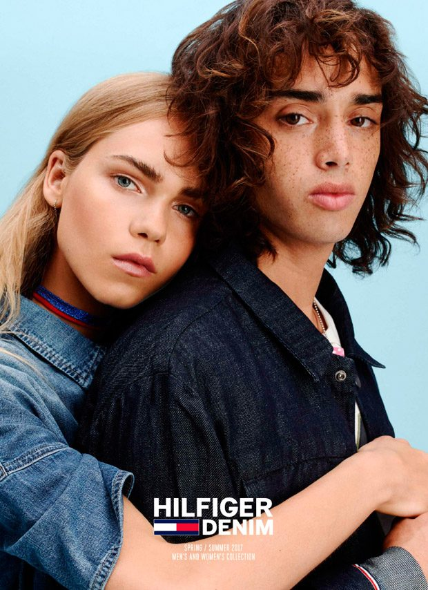 Line Brems Stars in Hilfiger Denim Spring Summer 2017 Lookbook