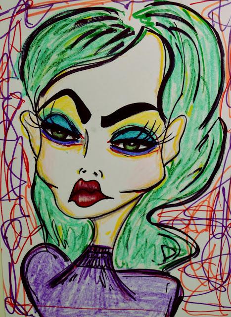 Bebee Pino green hair girl