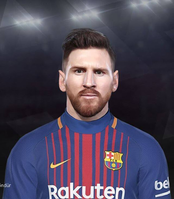 Lionel Messi Face PES 2018