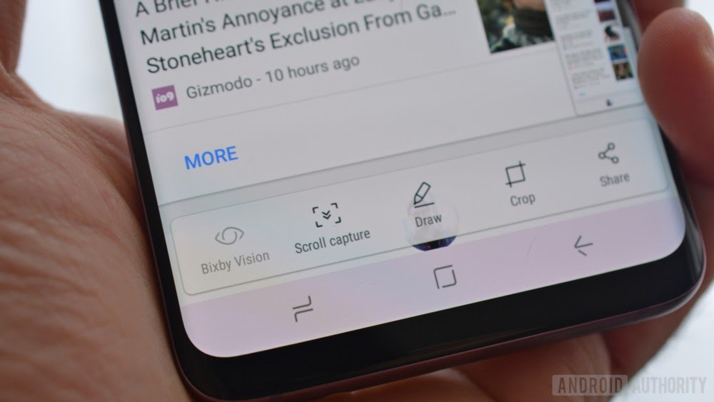 How to take a screenshot on Samsung Galaxy S9 and S9 Plus - Scroll Capture