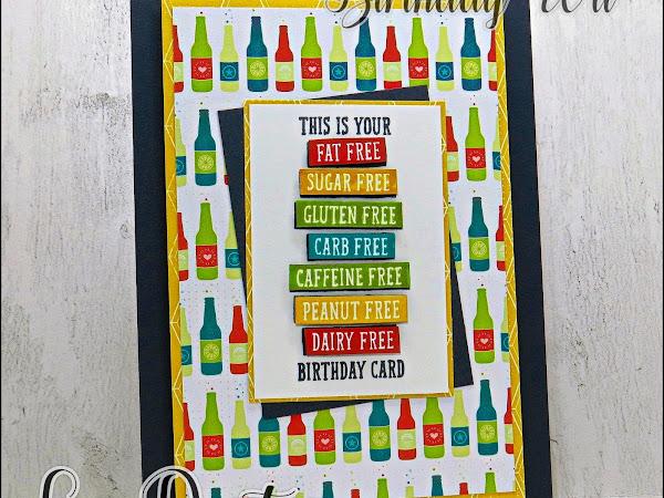 Fat Free Birthday Card with Birthday Wit Stamp Set