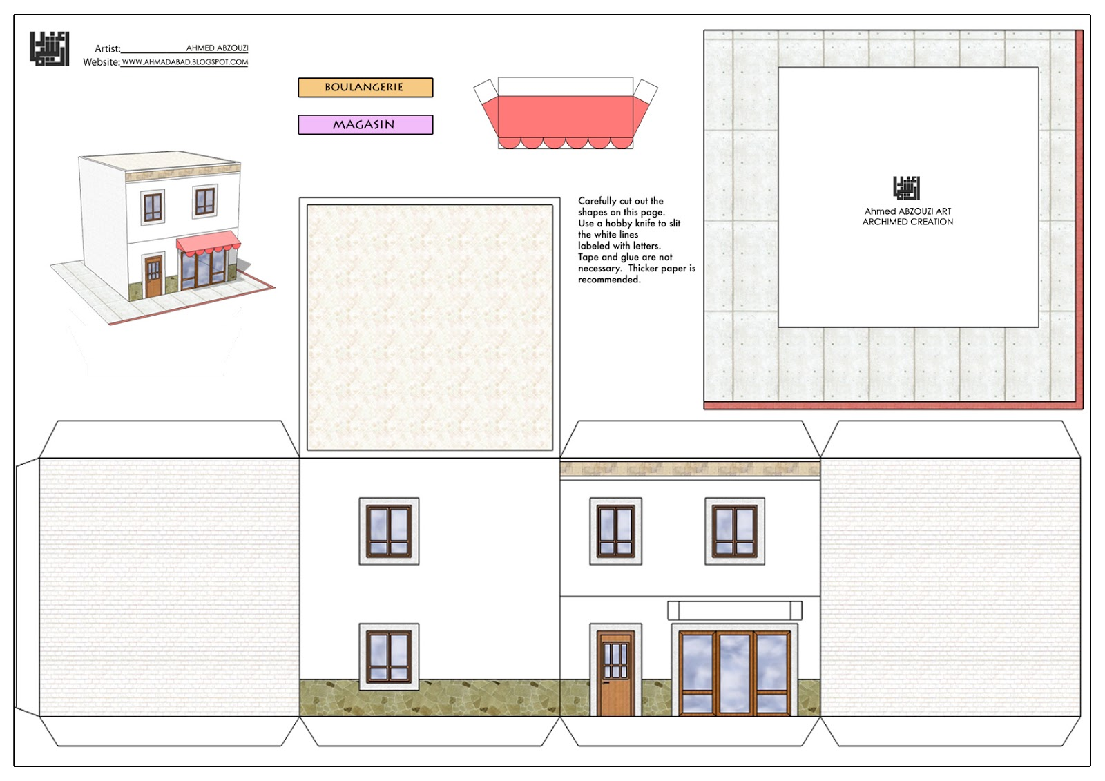 maquette maison a decouper. Black Bedroom Furniture Sets. Home Design Ideas