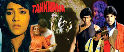 Poster Of Bollywood Movie Tahkhana (1986) 300MB Compressed Small Size Pc Movie Free Download worldfree4u.com