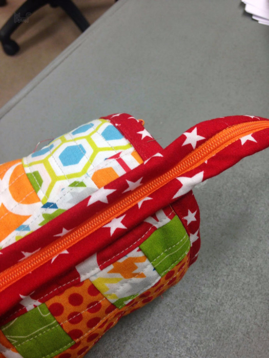 Sew Together Bag. DIY step-by-step tutorial. Сумочка для рукоделия