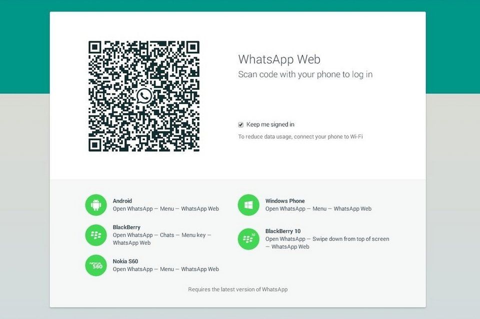 Error en la version Web de Whatsapp