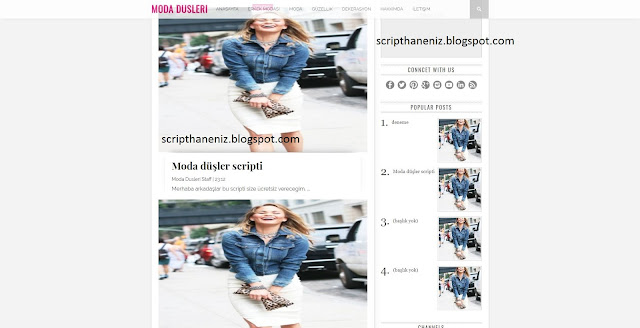Blogger Moda Düşleri Temasını İndir 2017