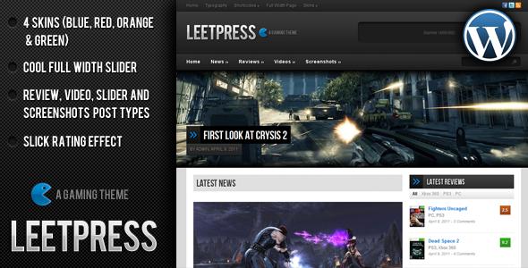 LeetPress – Gaming Theme by ThemeForest – Free Download Premium
