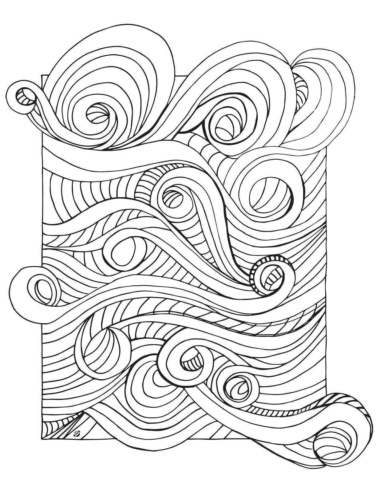 LostBumblebee: Grown Up Colouring : Rushing Wind.