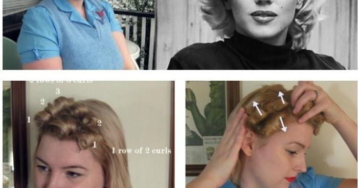 Pin Curl Diagram Leeson Iec Motor Dimensions Tutorial A Marilyn Set Va Voom Vintage Fashion Hair Tutorials And Diy Style