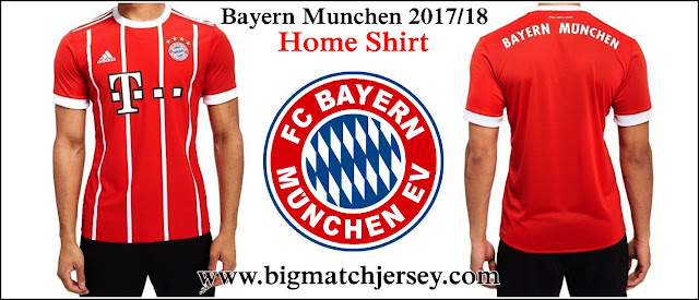 Adidas FC Bayern Munich 2017-18 Home Shirt