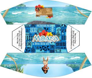 Moana Free Printable Hot Dogs Tray.