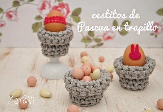 cestos de Pascua en trapillo