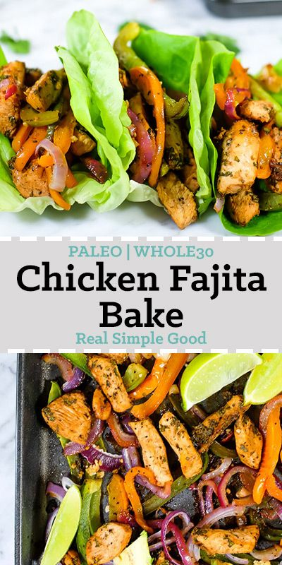 We are huge fans of tacos, fajitas and pretty much anything with Mexican flavors! And of course we love simple, quick and easy meals. So, this Paleo and Whole30 chicken fajita bake is basically where all the things collide! You'll love this flavor-packed Paleo and Whole30 sheet pan meal that's ready in just 35 minutes!