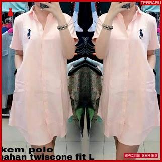 SPC235K43 Kem Polo Wanita Kemeja Atasan Wanita   BMGShop