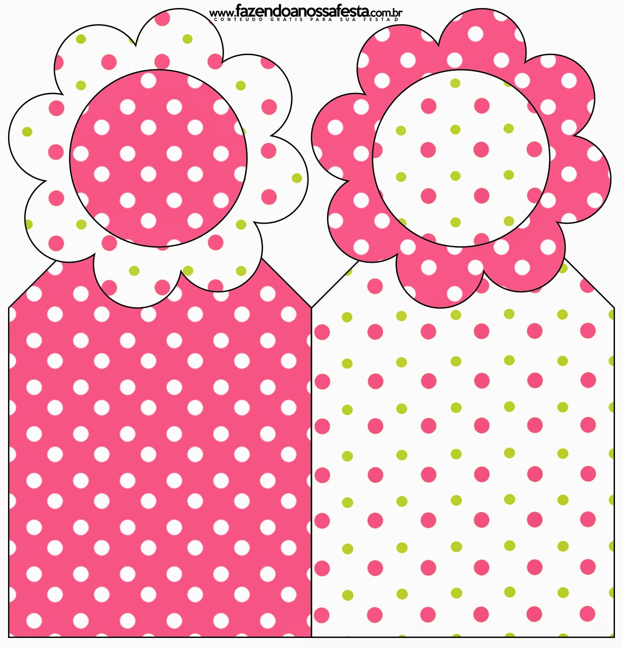 Pink, Green and White Polka Dots Free Printable Bookmarks.