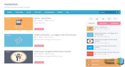 Template Blog Super Keren Dan Gratis Dari Arlina Design
