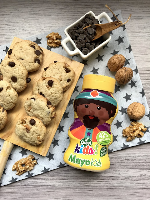 COOKIES DE MAYONESA CON PEPITAS DE CHOCOLATE Y NUECES RECETA