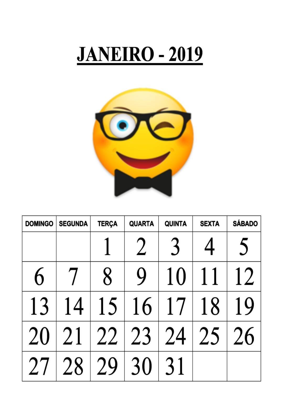 Emoji Del Calendario.Blog Educacao E Transformacao Calendario Emoji 2019
