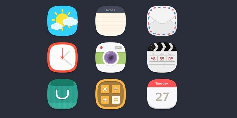 Flat Icons Freebie 1