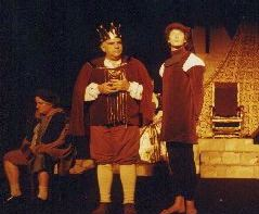 The king and the magician in the play The Fool