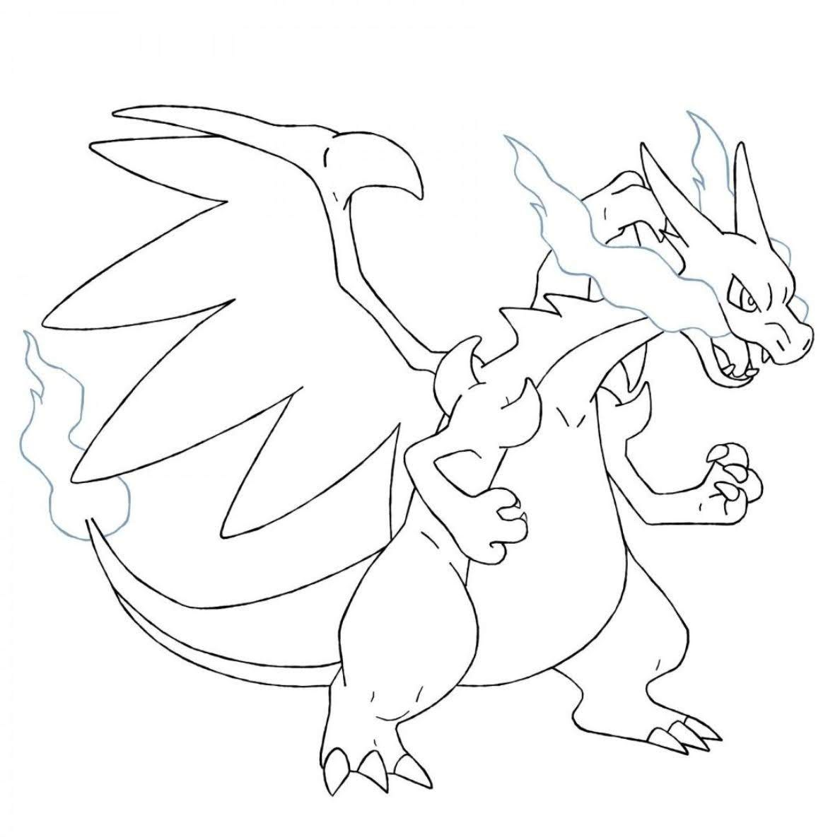Printable Charizard Coloring Pages for Free - Free Pokemon