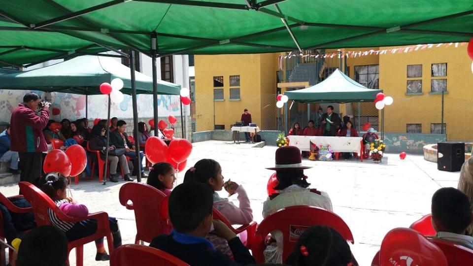 Secretario General Ricardo Mamani participó del acto festivo en el hogar Soria