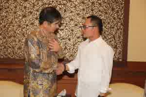 Menteri Ketenagakerjaan M Hanif Dhakiri dengan Presiden (CEO) IM Japan Mr. Kyoei Yanagisawa