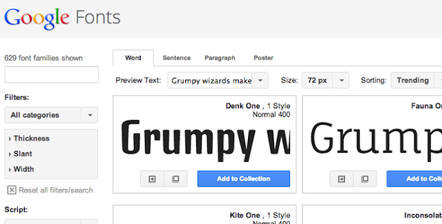 Fantastic Google Web Fonts for Headings and Body Text