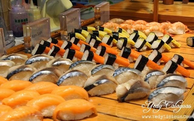 Sushi at Vikings Buffet SM Megamall