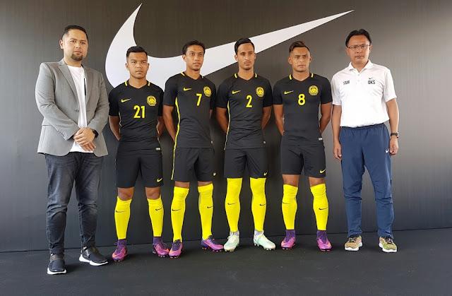 Jersi Baharu Skuad Harimau Malaysia Jenama Nike 2016-2018