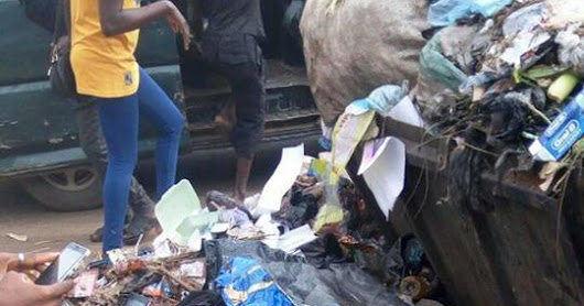 Heartless mother abandons newborn baby in refuse dump (graphic photo)