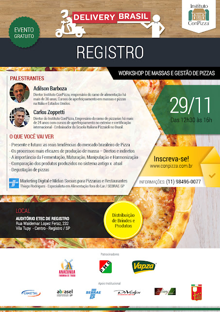 Registro-SP sediará o Congresso Internacional da Pizza - CONPIZZA