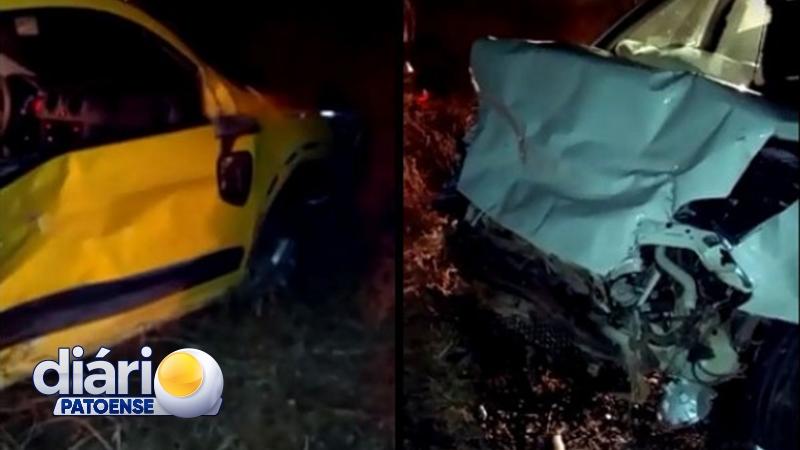 Acidente na BR-361 deixa duas pessoas feridas, em Santa Terezinha