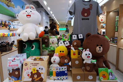 Line Friends Goodies in Shibuya Japan