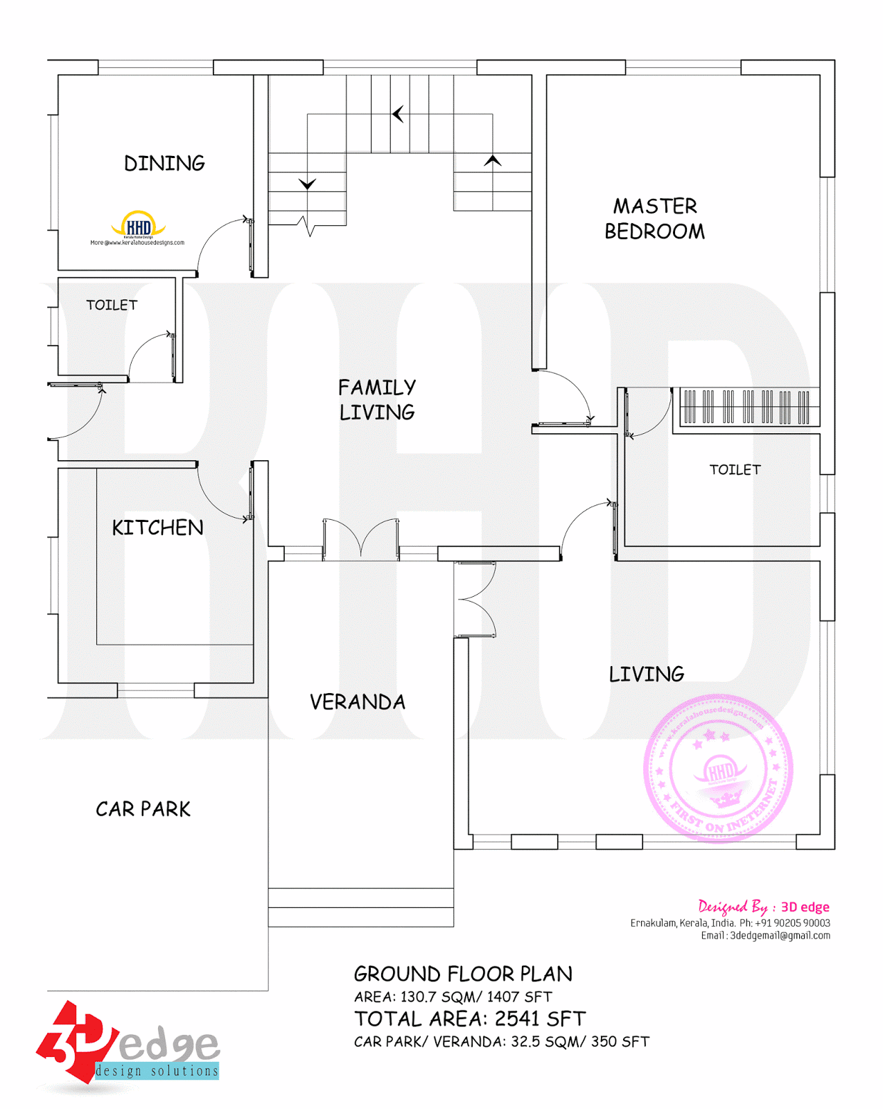 Contemporary House Plan By 3d Edge Kerala Home Design