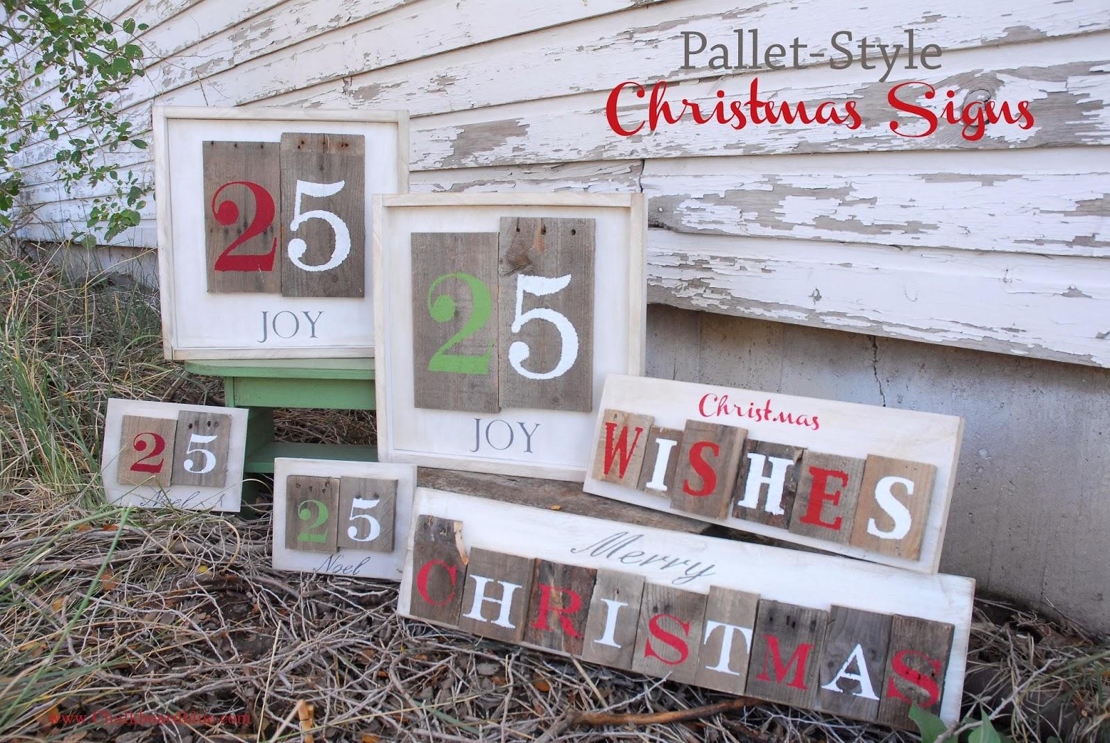 Chalkboard Blue Holidays