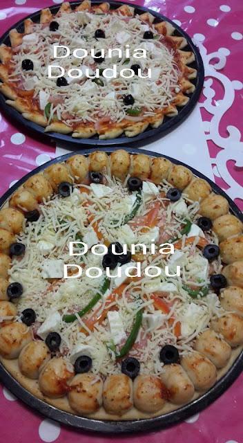 بالصور طريقة تحضير بيتزا بشكلين مختلفين من مطبخ المتألقة دنيا دودو