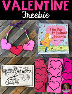 The Day it Rained Hearts Valentine Lessons and Activities for Preschool and Kindergarten