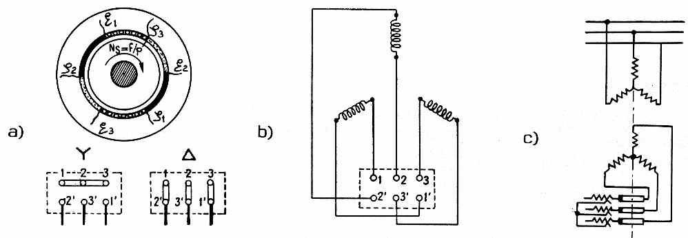 schema electrique moteur triphas u00e9