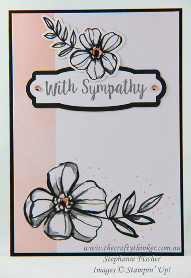 #thecraftythinker, #stampinup, #cardmaking, #sympathycard, Petal Passion Memories & More, Sympathy Card, Stampin' Up Australia Demonstrator, Stephanie Fischer, Sydney NSW