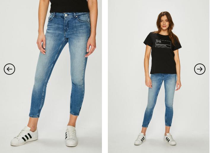 Review - Jeans albastri simpli
