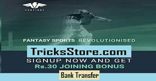 Fanfight Fantasy Cricket Game - Earn Rs 30 On Signup + Rs 60 Per Refer (Bank Transfer)